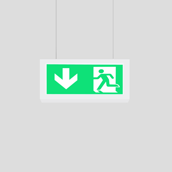 LEDEX Suspended Pendant White Exit Sign